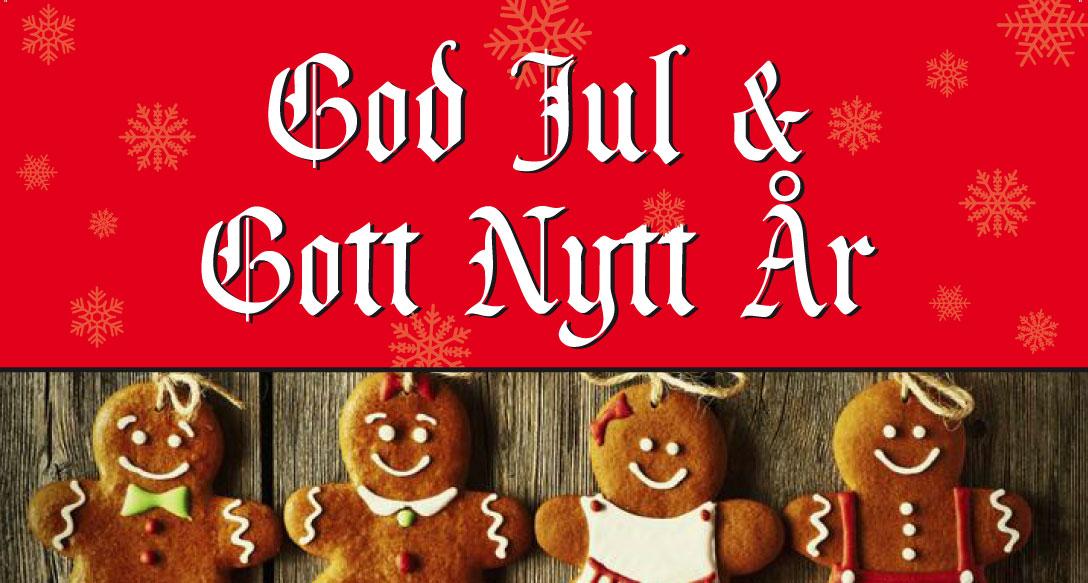 God jul och gott nytt år -vi har öppet som vanligt